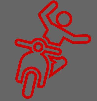 падений на мотоцикле